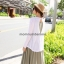 DR59083Green ชุดคลุมท้อง แขนกุดสีเขียวขี้มา+เสื้อคลุมสีขาว thumbnail 3