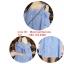 S50002Blue เสื้อคลุมท้อง ลายสก๊อตสีฟ้าเปิดไหล่ thumbnail 4
