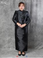 เช่า - ขาย ชุดไทยงานมงคล&#x2665 ชุดไทยจิตรลดา สีดำ ไซส์ใหญ่ 5XL แขนกระบอก