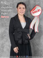 ขาย &#x2665 เสื้อสูท สไตล์ญี่ปุ่น ผ้าญี่ปุ่น โบว์หน้าช่วงเอว สีดำ