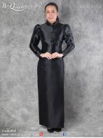 เช่า - ขาย ชุดไทย กราบพระบรมศพ &#x2665 ชุดไทยจิตรลดา ไว้ทุกข์ สีดำ ทรงเกล็ดหน้า แขนจีบ