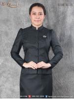 เช่า - ขาย ชุดไทยงานมงคล&#x2665 ชุดไทยจิตรลดา ผ้าลายลูกแก้วทั้งชุด ทรงแขนรูด สีดำ