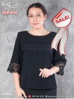 สินค้าขาย &#x2665 เสื้อสีดำ ไว้อาลัย ไซส์ 40 ทรงปล่อย แต่งลูกไม้ลายกุหลาบ ปักแต่งลูกปัดเล็กๆ