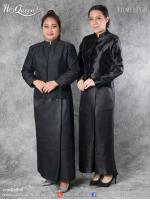 เช่า - ขาย ชุดไทยไว้ทุกข์ &#x2665 ชุดไทยจิตรลดา ไว้ทุกข์ สีดำ ผ้าด้าน