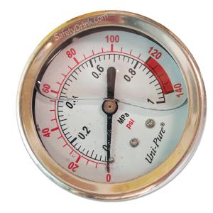 เกจวัดแรงดัน Pressure Gauge 0-140 PSI(B)