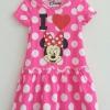 เดรส มินนี่ ลายน่ารัก สีชมพูสดใส size : 2-4y / 6-8y / 8-10y