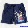 H&M : กางเกงขาสั้น ผ้า cotton ยืด สกรีนลาย Frozen สีน้ำเงิน Size : 1-2y / 2-4y