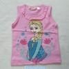H&M : เสื้อกล้าม สกรีนลาย Elsa สีชมพูอ่อน size 8-10y