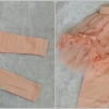 กางเกงเลกกิ้ง มีระบาย สีชมพู size 100 / 120