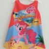 ZARA : เดรสพิมพ์ลายม้าโพนี่ Summer สีส้ม size : 2y / 8y / 9y