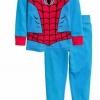 H&M : ชุดนอน (งานแท้ตัดป้าย) รุ่น Jersey Pyjamas ลาย Spiderman สีฟ้า size : 6-8y