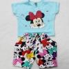 Jumbo Kids : ชุด set เสื้อ+กางเกง ลายมินนี่ เนื้อผ้ายืด cotton นิ่มๆ เด้งๆ สีฟ้า size 1y