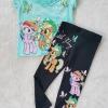 Set เสื้อ กางเกง โพนี สีเขียวสวย size : 2-4y