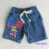 H&M : กางเกงขาสั้นผ้ายืด ลาย กัปตัน อเมริกา สีน้ำเงิน size : 1.5-2y / 8-10y