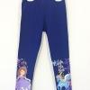 Disney : เลกกิ้ง ปลายขาสกรีนลายเจ้าหญิงโซเฟีย สีน้ำเงิน size 6 / 8