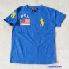 Polo : เสื้อยืด ปักลายธงชาติ USA สีน้ำเงิน size 6-8y