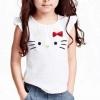 H&M : เสื้อยืด ผ้า cotton หน้าคิตตี้ Hello Kitty สีขาว size : 1-2y / 10-12y