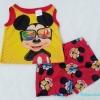 Disney : ชุดเสื้อกล้าม+กางเกงขาสั้น ลายมิกกี้เมาส์สีเหลือง size 5T