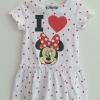 Disney : เดรส มินนี่ สีขาวจุดแดง size : 1-2y
