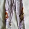 H&M : เลคกิ้งสกรีนลายเจ้าหญิงโซเฟีย สีม่วงอ่อนลายจุด size 1.5-2y / 6-8y / 10-12y / 12-14y