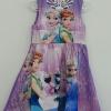 Zara Basic : เดรสพิมพ์ลาย Frozen สีม่วงอ่อน ซิปหลัง size 1y / 8y