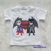 H&M : เสื้อยืด สกรีนลาย Batman&Superman สีขาว size : 4-6y / 6-8y