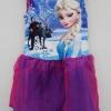 Disney : ชุดเดรส พิมพ์ลาย Frozen สีฟ้า เนื้อผ้ากึ่งมัน ระบายผ้าแก้ว size : 6 (6-7y)