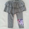 H&M : เลกกิ้งกระโปรงกางเกง สกรีนลายม้าโพนี่ ที่ปลายขา สีเทา size : 2-4y