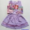 Set เสื้อ+กระโปรงกางเกง พิมพ์ลายเจ้าหญิงโซเฟีย สีม่วง size : 17 (7-8y) / 19 (8-9y) / 21 (9-10y)