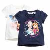 H&M : เสื้อยืดสกรีนลาย Frozen สีกรม (งานช้อป) size : 1-2y