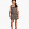 H&M : จั๊มสูทสายเดี่ยวสีน้ำตาล เนื้อผ้ายืด นิ่ม ( size 4-6y / 8-10y )