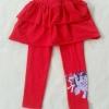 H&M : เลกกิ้งกระโปรงกางเกง สกรีนลายม้าโพนี่ ที่ปลายขา สีแดง size : 2-4y / 8-10y