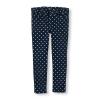 PLACE : Jeggings กางเกงขายาว พิมพ์ลาย สีกรม ลายจุด ( มีสายปรับเอว )