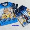 ME : Set เสื้อ Minion + กางเกง ผ้ามันลื่น size XL