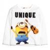 H&M : เสื้อยืดแขนยาว ลายมินเนียน สีขาว size : 6-8y / 8-10y