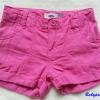 Old navy : กางเกงขาสั้น สีชมพู (มีสายปรับเอว) Size : 10y