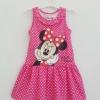 Disney : เดรสมินนี่แขนกุด สีชมพู จุดขาว size 1-2y