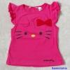 H&M : เสื้อยืด ผ้า cotton หน้าคิตตี้ Hello Kitty สีชมพูเข้ม size : 1-2y