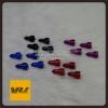 Vj1026 จุกลม จรวด สีดำ : Car tire valve Stem caps – Rocket