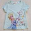 H&M : เสื้อยืด สกรีนลาย ELSA ผีเสื้อ สีฟ้า ( งานช้อป) Size : 1-2y
