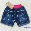 H&H : กางเกงยีนส์ขาสั้น ลายสกรีนคิตตี้ size 5 (3-4y)