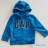Gap : แจ็คเก็ท กันหนาวมีฮูด ซิปหน้า สีน้ำเงิน ด้านในบุผ้าสำลี Size : 12-18m / 18-24m / 2y / 3y