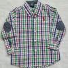 Polo : เสื้อเชิ๊ตแขนยาว แปะศอก ลายทางสีเขียว-ขาว Size : 1T / 2T / 3T / 6T /7 T