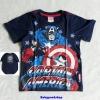 Marvel : เสื้อยืด สกรีนลาย กัปตันอเมริกา พี้นสีกรม size 9
