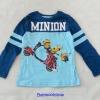 H&M : เสื้อยืดแขนยาว มินเนียน สีฟ้า size : 2-4y