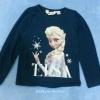 H&M : เสื้อยืดแขนยาว ลาย Elsa (ชนช้อป) สีน้ำเงินเข้ม Size 10-12y