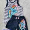 H&M : Set Pony เสื้อกล้ามลายขวาง+กางเกงขาสั้น (งานป้ายผิด) size : 6-8y / 8-10y