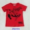 H&M : เสื้อยืด สกรีนลาย สไปเดอร์แมน สีแดง size : 6-8y