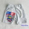 H&M : กางเกงขาสั้นผ้ายืด ลาย กัปตัน อเมริกา สีเทา เชือกผูกรูดเอวได้ size : 6-8y