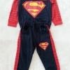 Carter's : Set เสื้อแขนยาว+กางเกงขายาว ลาย Superman สีกรม เนื้อผ้า นิ่ม ไม่หนามาก Size : 1y / 2y / 7y / 8y